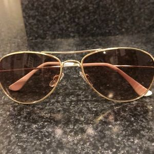 Accessories - Brown/gold aviator sunglasses